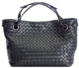 Bottega Veneta Intrecciato Black Shoulder Bag