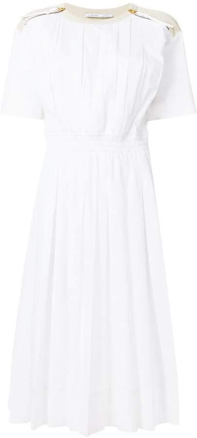 Agnona poplin flared dress