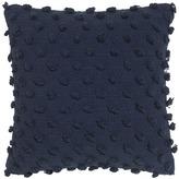 Acacia Solid Navy Cotton Cushion