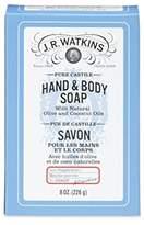 JR Watkins Castile Hand & Body Bar Soap, Peppermint, 8 ounce