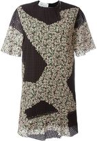 Cédric Charlier eyelet mini dress - women - Cotton - 40