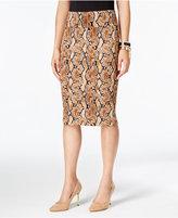 Thalia Sodi Snake-Print Pencil Skirt, Only at Macy's