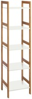 DREW Bamboo and lacquer 5-shelf bookcase