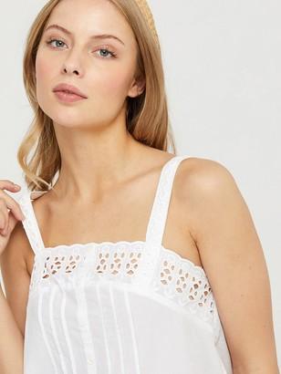Monsoon Suzie Organic Cotton SchiffliCami - White
