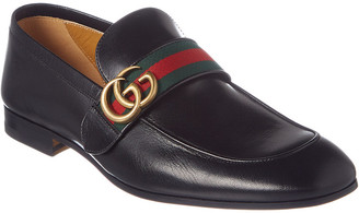Gucci Gg Web Leather Loafer