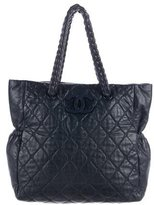 Chanel Leather Hidden Chain Tote