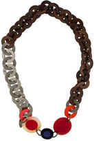 Marni Resin & Wood Link Necklace