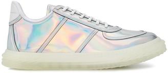 Giuseppe Zanotti Round Toe Holographic-Effect Sneakers