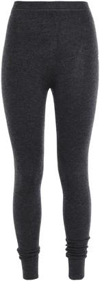 N.Peal Melange Cashmere And Silk-blend Leggings