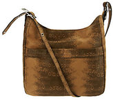 B. Makowsky Leather Adjustable Shoulder Bag w/Front Pockets