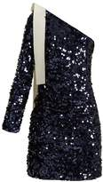MSGM One-shoulder sequin-embellished dress