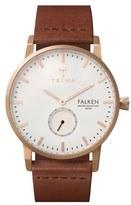 Triwa 'Falken' Leather Strap Watch, 38mm