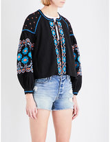 Free People Swing cotton-blend top