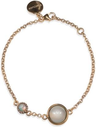 Vintouch Italy Satellite Rose Gold Vermeil Moonstone Bracelet