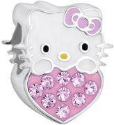 Hello Kitty Sterling Silver Crystal Birthstone Heart Bead