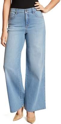 Gloria Vanderbilt Women's High Waist Wide-Leg Jeans