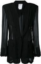 DKNY sheer panelled blazer