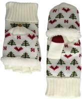 San Diego Hat Company KNG3475 Tree And Hearts Pop Over Gloves Extreme Cold Weather Gloves