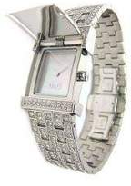 Dolce & Gabbana Women's Quartz Watch with Mother of Pearl Dial Analogue Display and Silver Stainless Steel Strap DW0002
