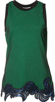 3.1 Phillip Lim sequin embroidered tank top - women - Polyester/Spandex/Elastane/Viscose - XXS