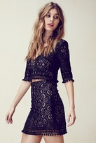 For Love & Lemons Florence Mini Skirt in Black