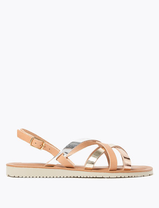 Marks and Spencer Leather Strappy Open Toe Gladiator Sandals