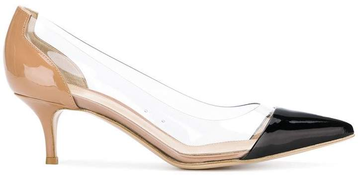 Gianvito Rossi contrast pointed pumps