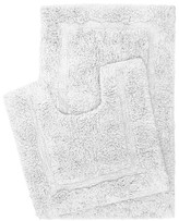 Retreat 2 Piece Cotton Bath Mat Set White