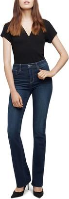 L'Agence Ruth High Waist Raw Hem Straight Leg Jeans
