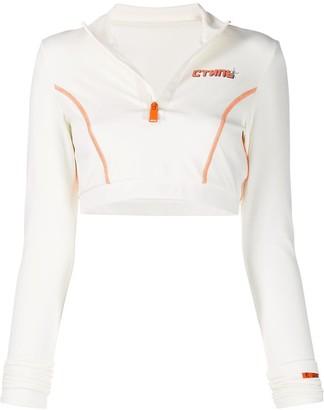 Heron Preston long sleeve cropped sweatshirt