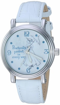 Disney Women's Mary Poppins Analog-Quartz Watch with Leather-Synthetic Strap