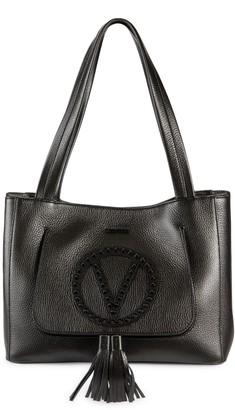 Mario Valentino Estelle Studded Pebbled-Leather Tote