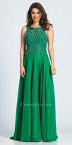 Dave and Johnny A-line Beaded V-back Chiffon Prom Dress