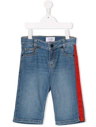 Givenchy Kids logo side-stripe jeans