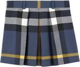 Burberry Check skirt Bleu marine