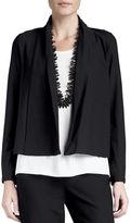 Eileen Fisher Washable-Stretch Crepe Short Jacket, Plus Size