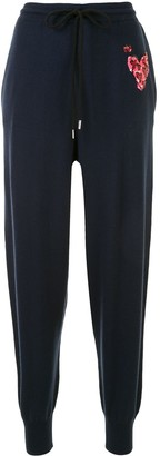 Markus Lupfer Sequin Heart Track Pants