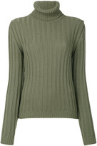 Moschino ribbed roll neck jumper