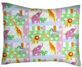 Sheetworld Jungle Animals and Dots Cotton Percale Pillow Case