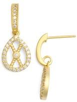 Freida Rothman Women's Pave Rope Earrings