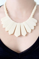 Rose Pierre Island Adventure Collar Necklace in Ivory