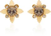 Nicole Romano 18K Gold-Plated Star Crystal Stud Earrings
