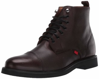 Marc Joseph New York Men's Leather Made in Brazil Luxury Laceup Lug Boot Ankle