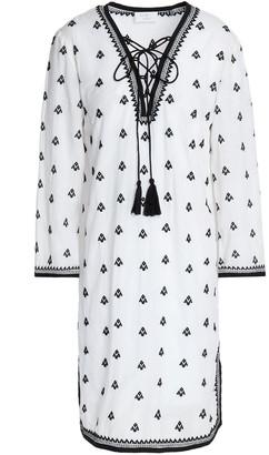 DAY Birger et Mikkelsen Tasseled Embroidered Cotton-blend Mini Dress