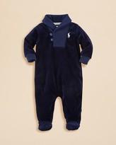 Ralph Lauren Infant Boys' Velour Shawl Collar Footie - Sizes 3-9 Months