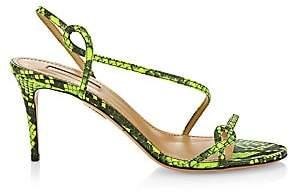 Aquazzura Women's Serpentine Neon Snakeskin Slingback Sandals