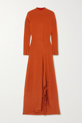 Jonathan Simkhai Penelope Open-back Tasseled Ribbed-knit Midi Dress - Orange