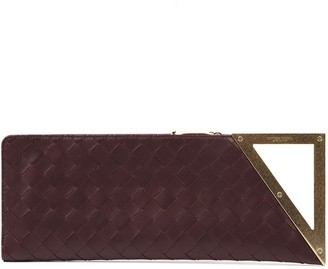 Bottega Veneta Bordeaux Intrecciato Leather Clutch
