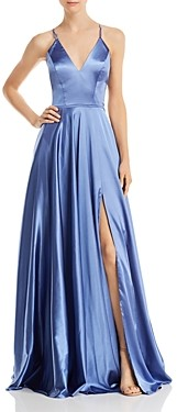 Faviana Couture Charmeuse Lace-Up Gown