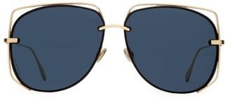 Christian Dior 61MM Stellair Wire Aviator Sunglasses